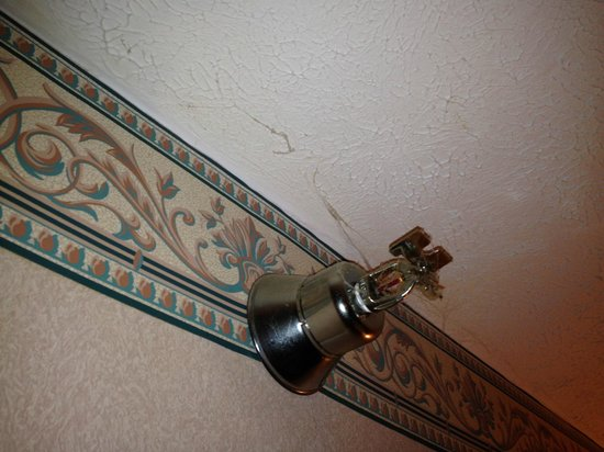 Baymont Inn & Suites Traverse City: Cobwebs on ceiling and sprinkler system