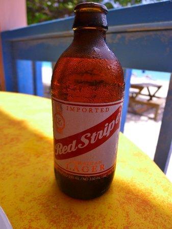 Tropical Sunset Restaurant & Bar: Jamaican Red Stripe