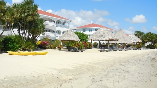 Belize Ocean Club Resort: View of the resort from the beach