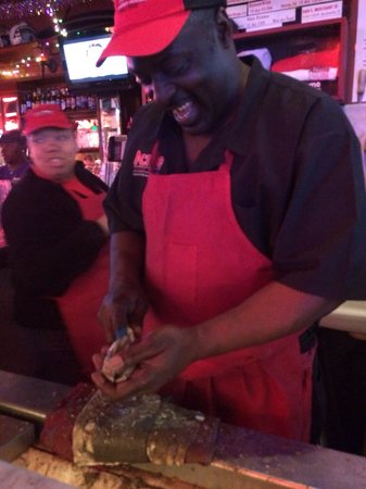 Acme Oyster House: I'm not sure of this guys name but his customer service was spot on!