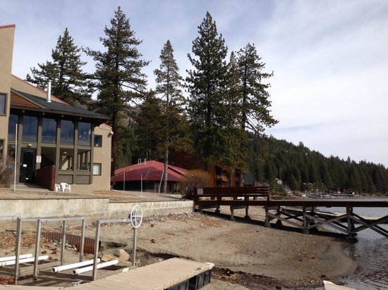 Donner Lake Village: Lake side of property
