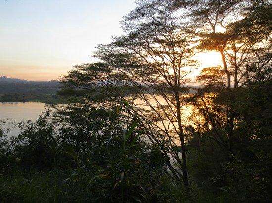 The Nile Porch: Sunset from the porch