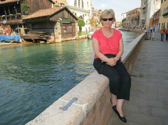 Sitting Outside At Osteria Al Squero
