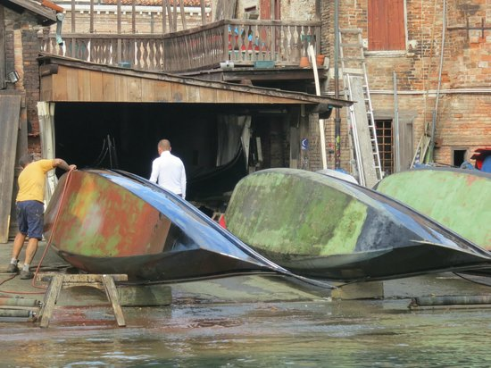 Osteria Al Squero: Repair Work Getting Done Across The Small Canal