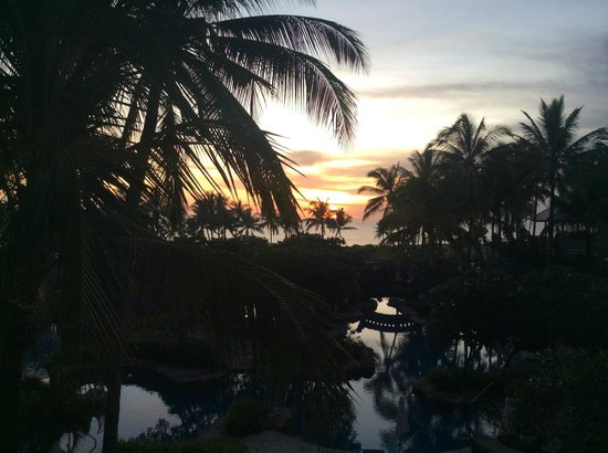 Pan Pacific Nirwana Bali Resort: View from our balcony just on Sunset