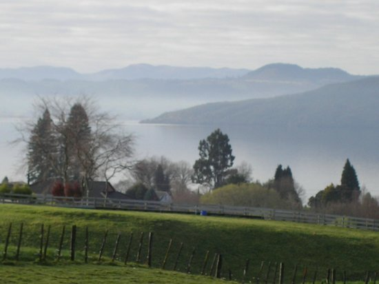 A Panoramic Country Homestay: View from front on foggy morning