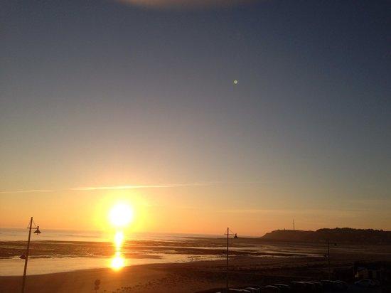 Hotel Restaurant des Isles : Coucher de soleil vue de l'hôtel