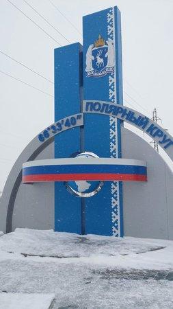 Salekhard, Rosja: Полярный круг