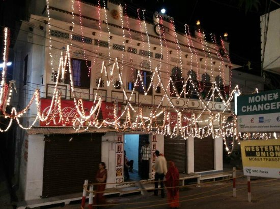 Atithi Paying Guest House: Front view on Diwali