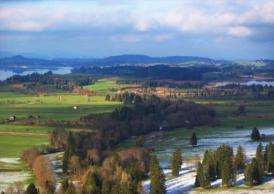 Upper Bavaria, Jerman: View from the Castle