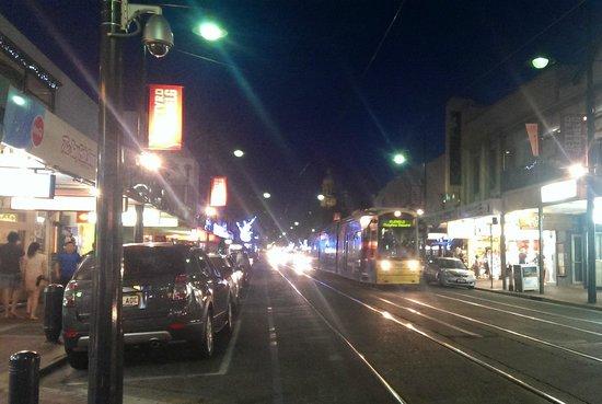 Glenelg Tram: Tram heading into Gleneg square
