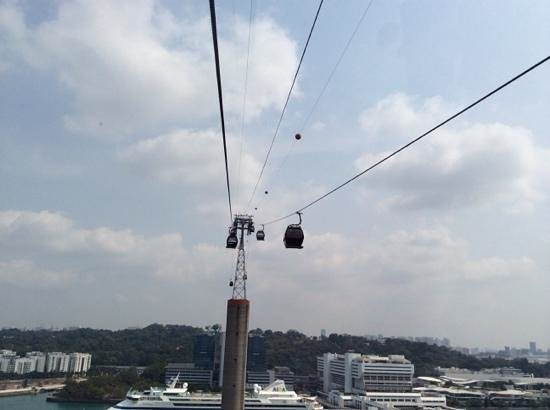 Singapore Cable Car: view from cable car singapore