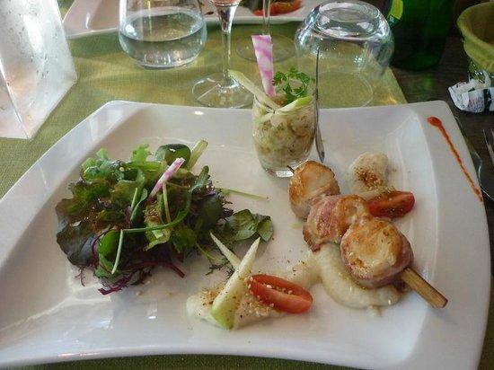 Restaurant Le Chalet Du Parc : St Jacques en entrée