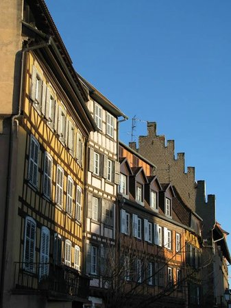 La Petite France: Buildings shining in the setting sun