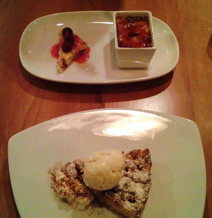 Delissi: Vanilla bean creame burlee & Warm Apricot & almond shortcake