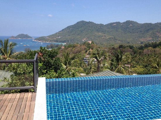 Koh Tao Heights Pool Villas: Ausblick vom Pool
