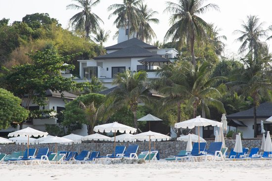 The Racha : Villa 102 viewed from the beach