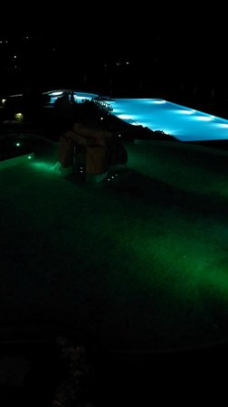 Hotel Adler Thermae Spa & Relax Resort: Le piscine by Night