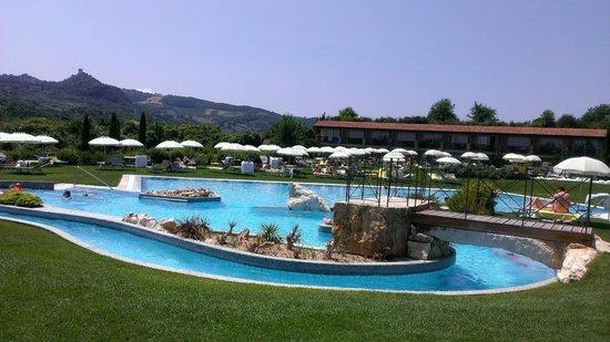 Hotel Adler Thermae Spa & Relax Resort: veduta delle piscine