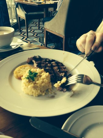 The Chelsea Harbour Hotel: Steak for breakfast £23.50