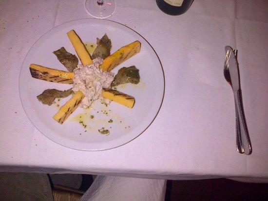 Hosteria al Leon d'Oro: Baccalà mantecato con carciofi e polenta abbrustolita