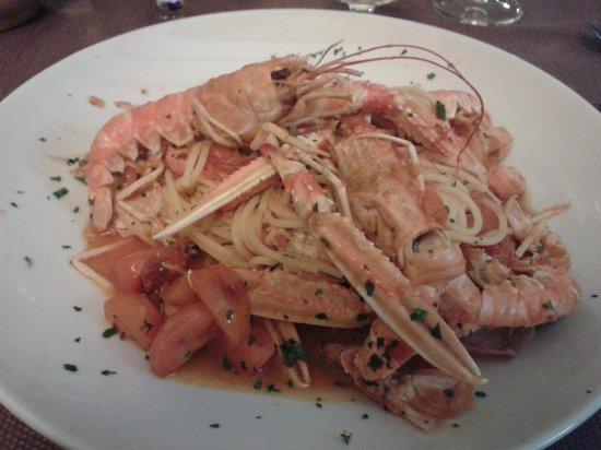 Trattoria Boccon di Vino: spaghettata di Scampi