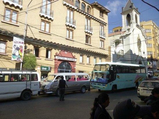 Hotel Rosario La Paz: ホテル正面