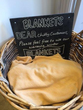Dukes: Thoughtful touch, blankets for customers
