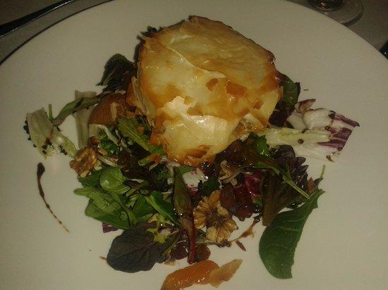 Restaurant Can Jepet: amanida de formatge de cabra