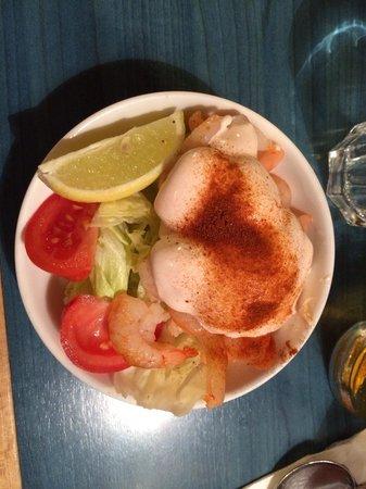 The Avenue: Gamberetti con salsa e verdure