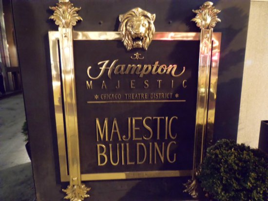 Hampton Majestic Chicago Theatre District: 看板