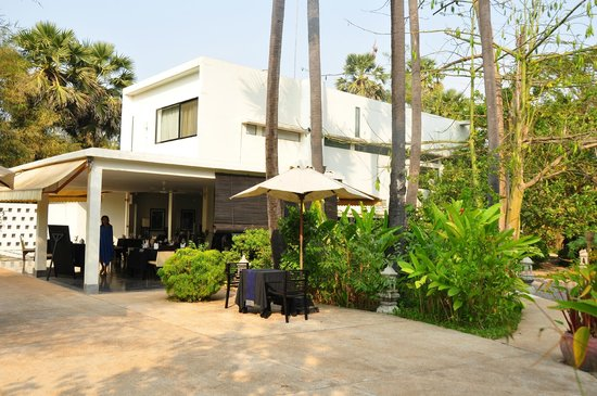 Sojourn Boutique Villas: Main Buidling with terrace room on the second floor