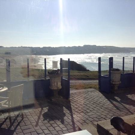 The Headland Hotel & Spa - Newquay: what a lovely view  to sit and eat lunch