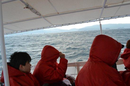 Hashima Island : 船の傾斜がわかりますか。