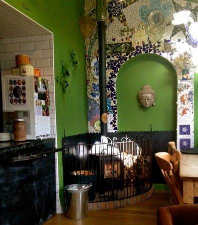 Alpine Coffee Shop : Log burner for the cold days