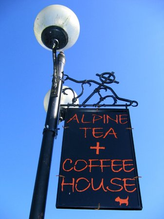 Alpine Coffee Shop : Our sign