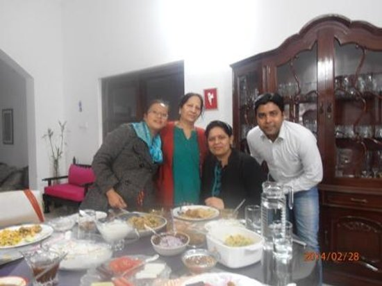 Darshan Home Stay: Myself with Mrs. Wali and my friends