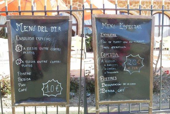 Restaurante Los Almendros: El menú del día.