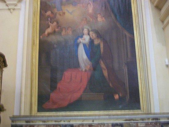 Matrice Church: tela di Maria Bambina con la mamma S.Anna