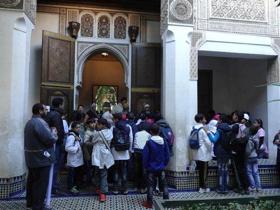 Palais de la Bahia : 遠足の小学生