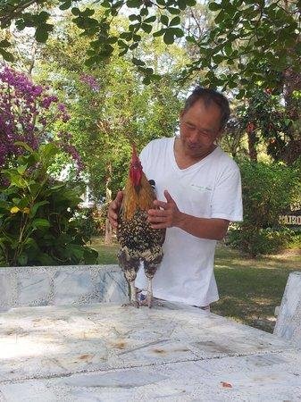 Mairood Resort: Mr. Chim, the nice owner.