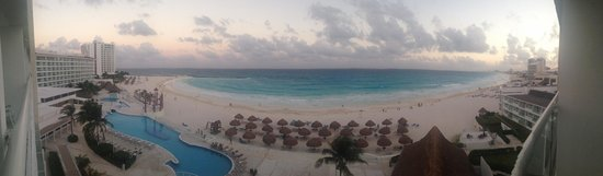 Krystal Cancun: view from our room in evening
