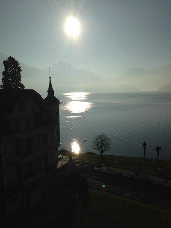 Park Weggis: Lake side scenery in the morning