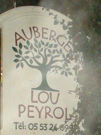 Auberge Lou Peyrol: The sign