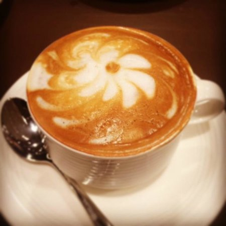 Kempinski Hotel Corvinus Budapest: Latte Art at Breakfast