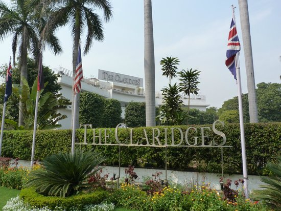 The Claridges New Delhi: front entrance to hotel