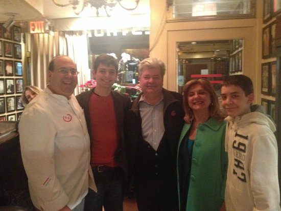 Patsy's Italian Restaurant : Chef Sal and out family, March 2014. Thanks, Sal!