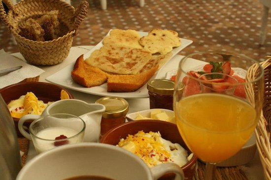 Riad les Orangers d'Alilia Marrakech: The breakast