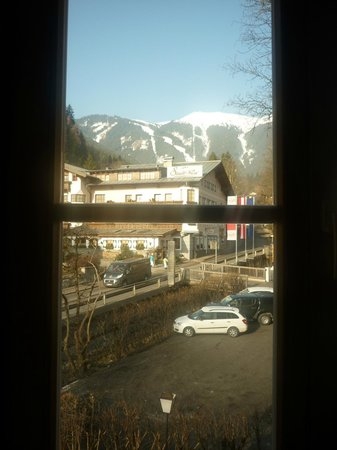 Hotel St. Georg: View from window of mountain