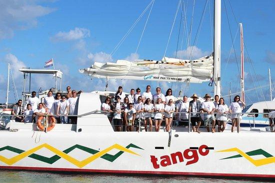 Baie de Simpson, Saint-Martin : Our group on the Tango!
